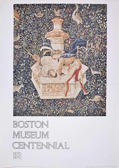 Boston Museum Centennial poster 1970 Narcissus Tapestry 15th century French