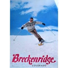 Breckenridge, Colorado Vintage Ski Poster USA (1967)