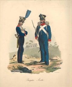 Brigata Aosta - Lithograph Mid 1800