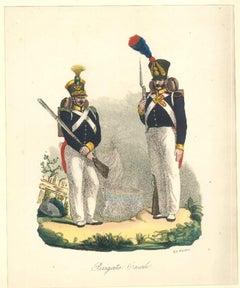 Brigata Casale - Lithograph Mid 1800