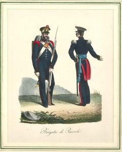 Brigata di Pinerolo - Lithograph Mid 1800