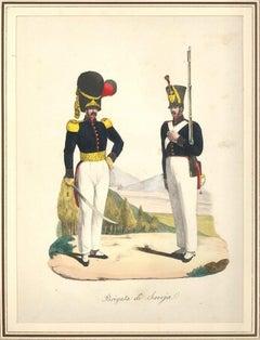 Brigata di Savoja - Lithograph Mid 1800