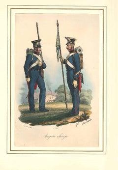 Brigata Savoja - Lithograph Mid 1800