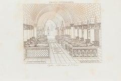 Burial - Original Lithograph - 19th Century