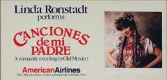 """""""Canciones de mi Padre,"""" Autographed Linda Ronstadt tour Poster & Photo"""