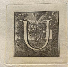 Capital Letter for Antiquities of Herculaneum Exposed - End of the 18th century