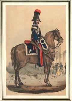 Carabiniere del Corpo Reale (Royal Guard) - Lithograph Mid 1800