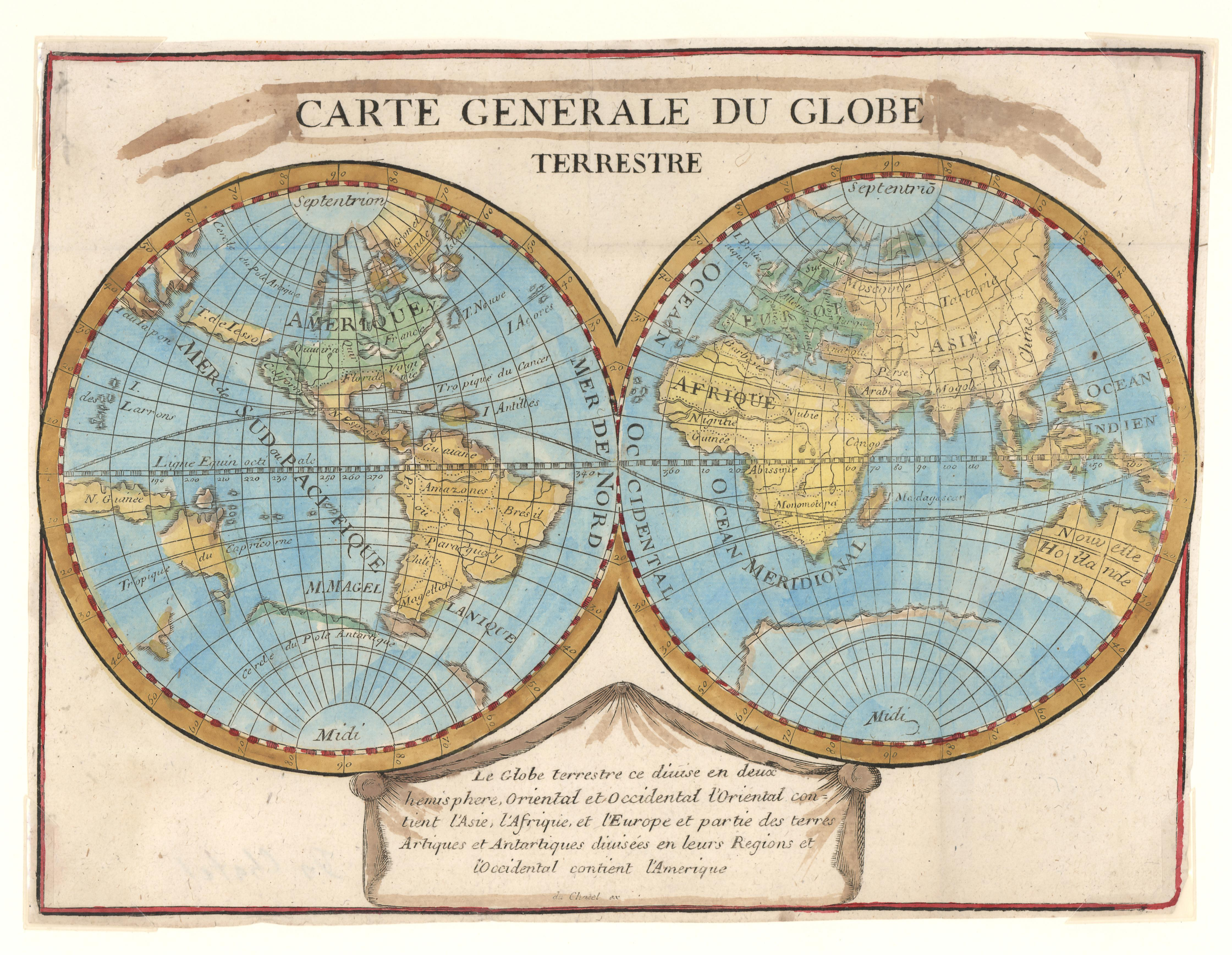 Carte General du Globe Terrestre