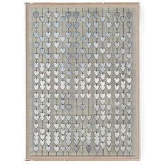 Cartier Heart Strings, silver leaf, framed