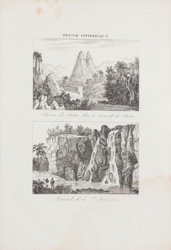 Cascade de la Suzanne - Original Etching  - 19th Century