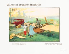 """Champagne Edouard Besserat"" Original Vintage Champagne Poster"