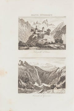 Chapelle d'Arrens - Original Etching - 19th Century