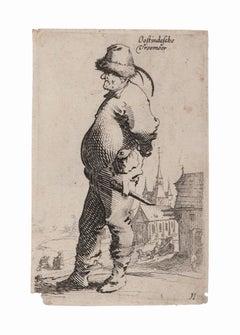 Character - Original Etching - 17th century