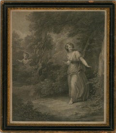 Charles Knight (1743-1826) - Early 19th Century Engraving, Maiden in the Woods