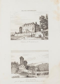 Chateau de Rochechouart - Original Etching - 19th Century