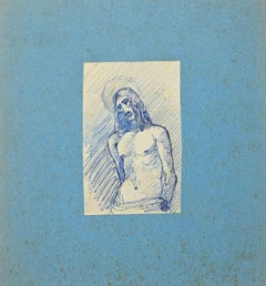 Christ  - Original Pen and Pencil Drawing - Early 20th Century