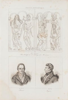 Christian Art and Portraits - Original Lithograph  - 19th Century