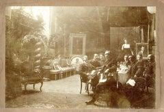 Circolo dell'Arcadia - Original Albumen Print on Cardboard - Early 20th Century