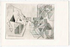 City of Future - Original Etching and Drypoint - Mid-20th Century