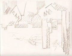 City of the Future - Original Etching and Drypoint - Mid-20th Century