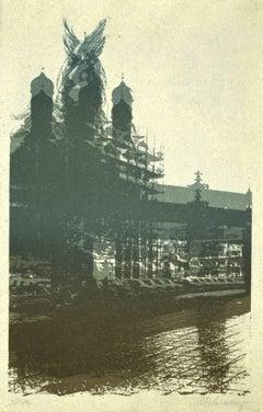 Cityscape - Original Screen Print - 20th Century