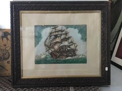 clipper ship watercolor