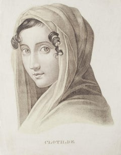 Clotilde's Portrait - Original Lithograph - 20th Century