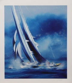 """""""Cloudy Sails"""" Pencil-Signed, Limited Edition Print"""