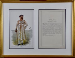 "Colored Vanity Fair Caricature of the ""Gaekwar of Baroda"" (Prince of India)"