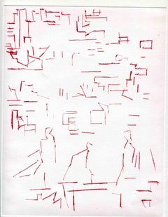 Composition - Original Etching and Drypoint - Mid-20th Century