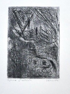Composition - Original Etching on Paper - 1942