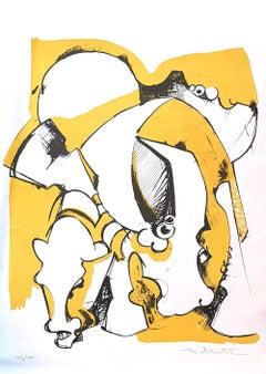 Composition - Original Lithograph - 1970s