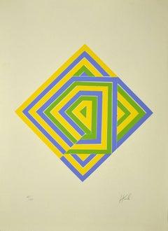 Composition - Original Lithograph - Late 20th Century