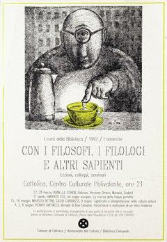 Con i Filosofi, i Filologi e altri Sapienti - Vintage Offset Poster - 1992