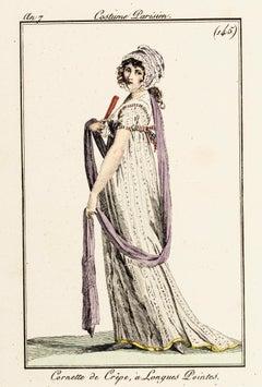 Cornette de Crêpe, à Longues Poi - Original Etching 1799