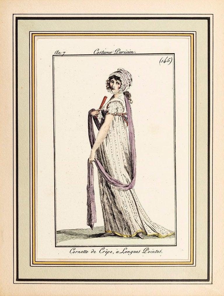 Unknown Figurative Print - Cornette de Crêpe, à Longues Pointes - Original Etching - 1799