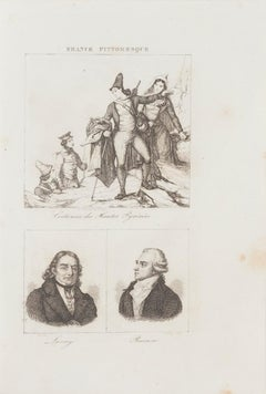 Costumes and Portraits - Original Lithograph  - 19th Century