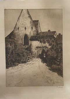 Country House - Original Etching - 19th Century