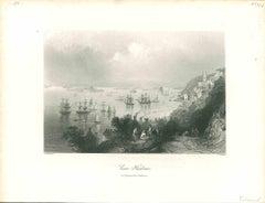 Cove Harbour - Original Lithograph - Mid-19th Century
