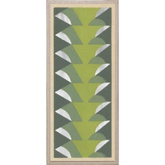 Deco Palms no. 1, silver leaf, framed