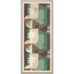 Deco Palms no. 4, gold leaf, unframed