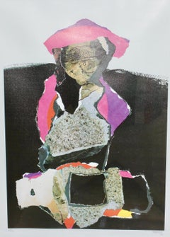 Decorative, abstract lithograph, signed and numbered, 67/90, MANRIQUE.