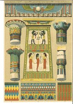 Decorative Motifs of Egyptian Renaissance - Chromolithograph -Early 20th Century