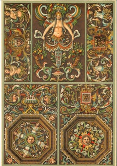 Decorative Motifs of the German Renaissance -Chromolithograph-Early 20th Century