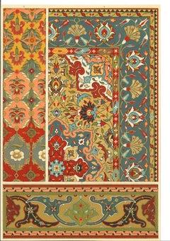 Decorative Motifs of the Persian Renaissance - Chromolithograph - 20th Century