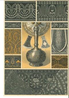 Decorative Motifs - Original Chromolithograph - Early 20th Century