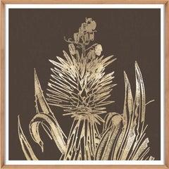 Desert Calm No. 2, gold leaf, framed