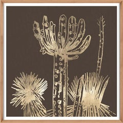 Desert Calm No.1, gold leaf, unframed