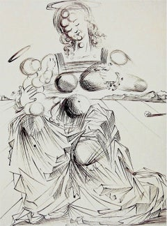Disintegrating Mother & Child 1989 Limited Edition Lithograph Dali - 1st Edition