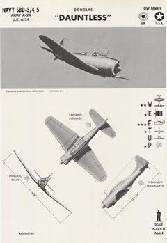 Douglas Dauntless Dive Bomber original World War Two restricted original poster